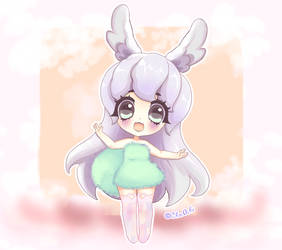Kawaii Lilac Bunny by Choc0Chu