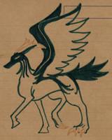 Peryton doodle by Talec
