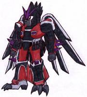 Gundamized Dart Pitohui by Talec