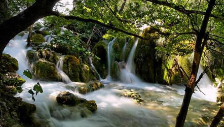 Plitvice Waterfall III by Luke-ro