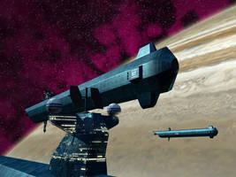 Megatanker in jovian orbit by Guilhem-Bedos