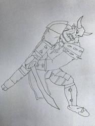 Orc raider chopping SFW version by Ihsan997