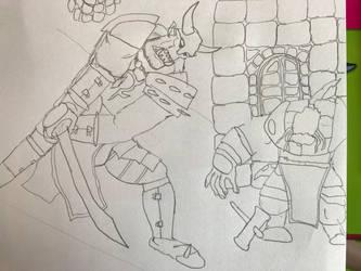 Orc raider chopping NSFW version by Ihsan997