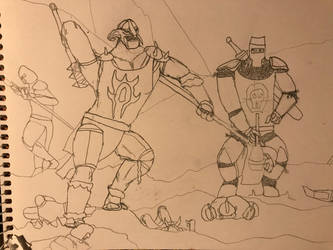 Parry and Rout sketch by Ihsan997