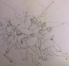 Island expedition skirmish sketch by Ihsan997