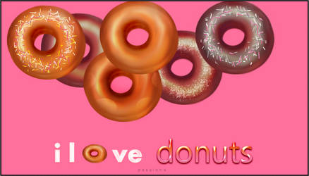 i love   donuts by Passion-S