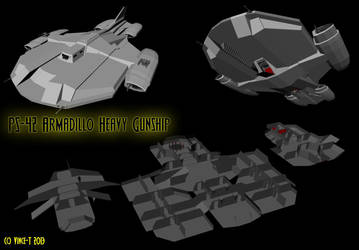 WIP: Armadillo-class Heavy Gunship by Vince-T