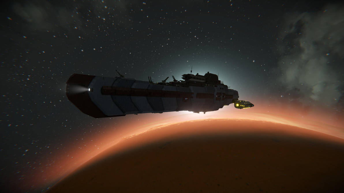 Stalwart-class Destroyer @ Space Engineers by Vince-T