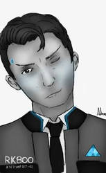 Connor DBH [B/W] by BackFromHell666