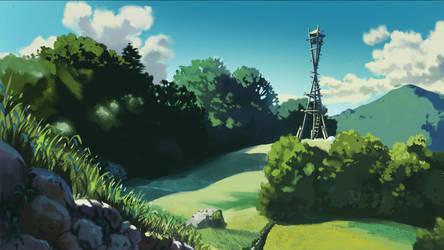 Princess Mononoke background study by RT-FX