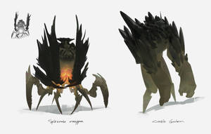 Dungeon creatures by sirallon