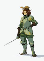 Little knight by sirallon