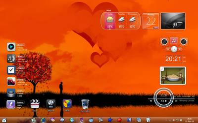 my costum desktop by g0n0x