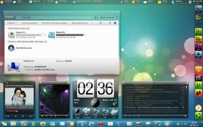 my custom desktop -16 feb 2011 by g0n0x