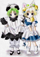 Deji-pyo and Pyoko-nyo by yaten-no-kittygirl