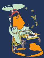 GANGSTA POLAR BEARS IN A JEEP by RYE-BREAD