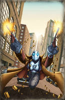 Atomic Robo-A-GO-GO by ChrisSummersArts