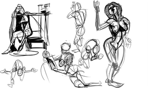 Pixelovely Warmup 3-15-13 by wadedraws