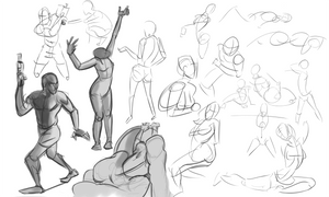 Warmups-10-15-13 by wadedraws