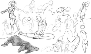 Warmups-10-21-13 by wadedraws
