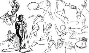 Warmups 03-17-14 by wadedraws