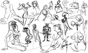 Warmups 03-20-14 by wadedraws