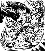 Sonic by wadedraws