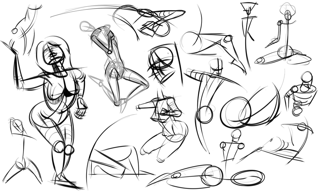 Warmups 06-30-14 by wadedraws
