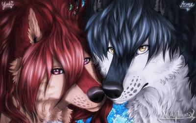 Wolf Children Yuki and Ame Grown up by WildPhoenixWolf