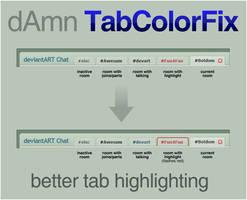 dAmn TabColorFix by electricnet