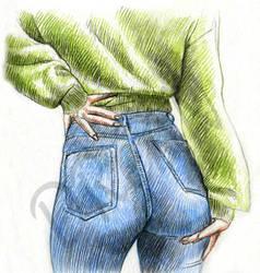 Blue Jeans by Dreanpinup