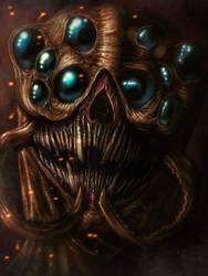Skryme, the Flesh Weaver (color)  by Abizmerald999