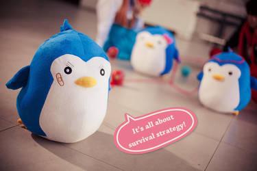 Mawaru Penguindrum_penguins by hybridre