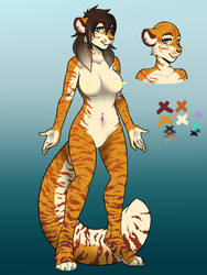Tiger lady adoptable (15$) by icat22