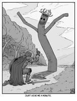 Inktober 15 - Weak a.k.a Beware the wild tube man by KaidokJ