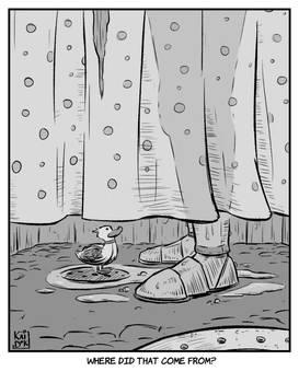 Inktober 21: Drain - What the duck? by KaidokJ
