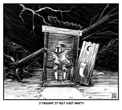 Inktober 27: Thunder - Any thunder-box in a storm by KaidokJ