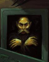 Dracula in his coffin by KatLouhio