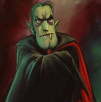 Cartoon Dracula sketch by KatLouhio