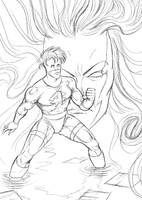Cover sketch for MKK by KatLouhio