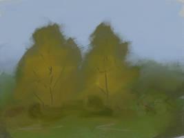 Autumn trees by KatLouhio