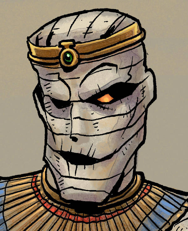 A detail of the mummy drawing by KatLouhio