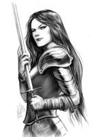 Yet another sword wielding woman by KatLouhio