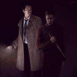Dean and Cas (commission). by Armellin