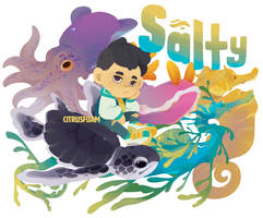 Salty Sticker Design by CitrusFoam