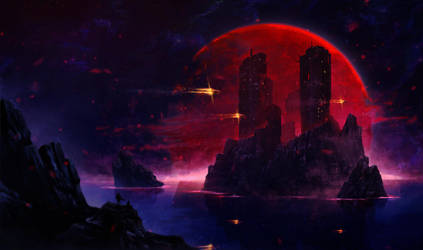 Red moon by SolFar
