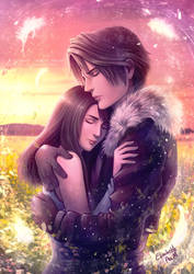 Final Fantasy VIII - Squall and Rinoa by Emeraldus