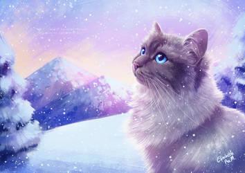 Mountain snow by Emeraldus