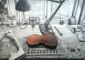 The Violin Workshop by Emeraldus