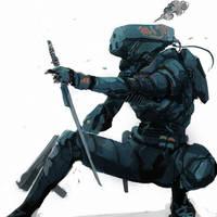 Battle suit concept - come closer! by TraceLandVectorie03